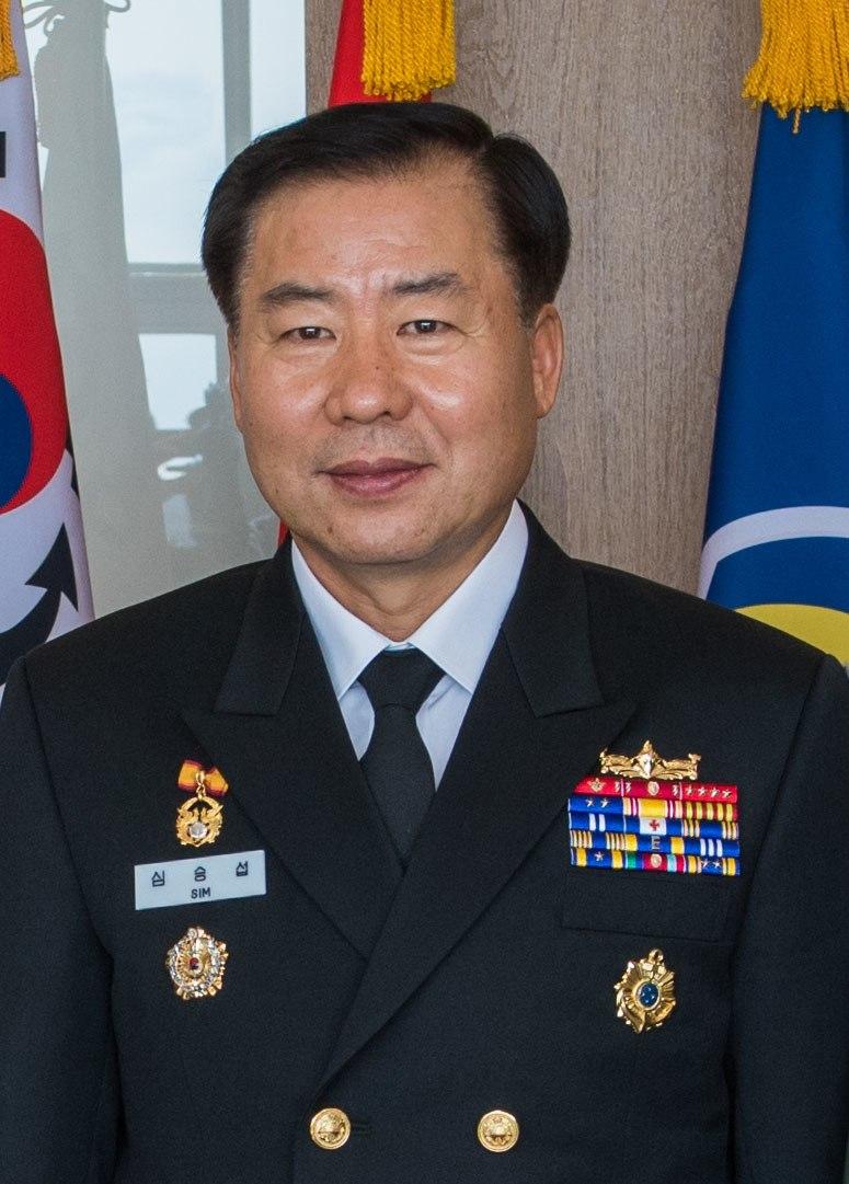 Navy (ROKN) Admiral Sim Seung-seob 해군대장 심승섭 (US Navy photo 181011-N-TB148-0110 JEJU ISLAND, Republic of Korea)