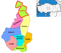 Nevsehir districts Kozakli.png