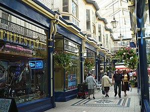 Newport city centre - Newport Arcade looking towards Cambrian Road