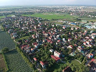 Duy Tiên Town in Red River Delta, Vietnam