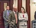 Nick DiCeglie and Jennifer Webb confer on the House floor.jpg