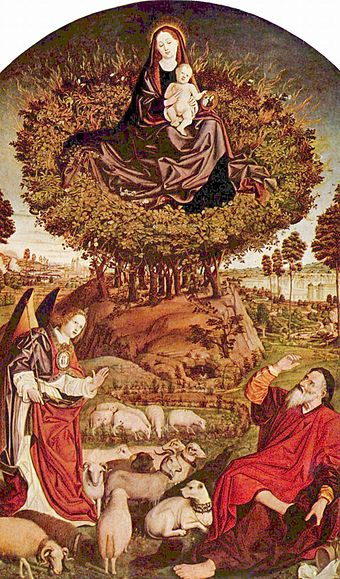 Triptych of the Burning Bush, by Nicolas Froment, in Aix Cathedral (15th century) Nicolas Froment 003.jpg