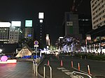 Night view in front of Chikushi Entrance of Hakata Station.jpg
