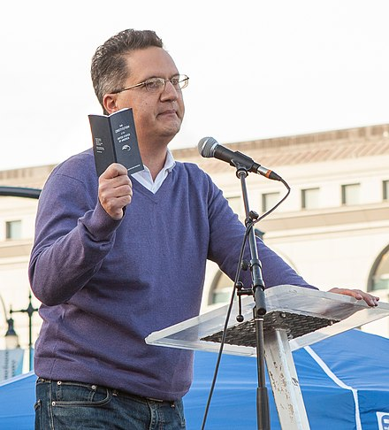 Abdi Soltani, executive director of Northern California ACLU, speaks at a San Francisco protest of the US immigration ban NoBanNoWall SF 20170204-1945 (cropped).jpg