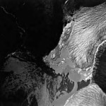Norris Glacier, valley glacier terminus and glacial remnents, August 30, 1974 (GLACIERS 6070).jpg