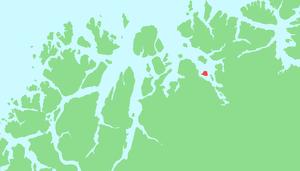 Skorpa prisoner of war camp - The island of Skorpa in Troms