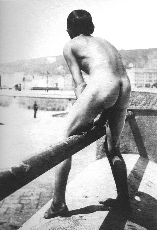 Filenude Little Boy On Beachfront Of Naples, Italy 1890S -8101