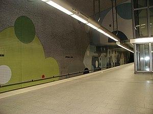 Wöhrder Wiese (Nuremberg U-Bahn) - Image: Nuernberg Woehrder Wiese U 4