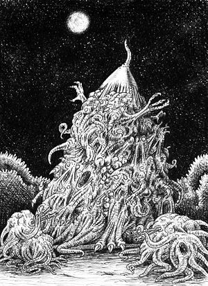 "Nyarlathotep - Nyarlathotep in ""The Dweller in Darkness"" by August Derleth."