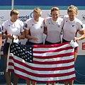 O'BRIEN, Kristine LATZ, Grace MARTELLI, Adrienne et LUCZAK, Grace 2015 - World Championships - 45 (cropped).JPG
