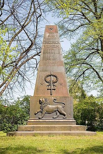 Battle of Ölper (1809) - The obelisk commemorating the 1809 Battle of Ölper in the community of Braunschweig-Ölper.