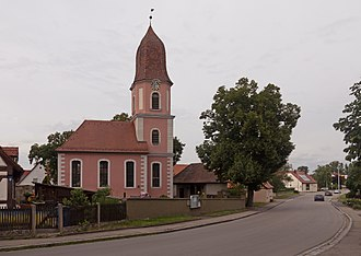 Ipsheim - Image: Oberndorf, die evangelisch lutherische Kirche Sankt Kilian Dm D 5 75 135 24 foto 9 2016 08 05 15.23