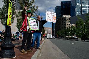 Occupy Boston - Image: Occupy Boston signs 2