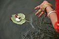 Offering to Goddess Ganga - Upanayana Ceremony - Simurali 2015-01-30 5331.JPG