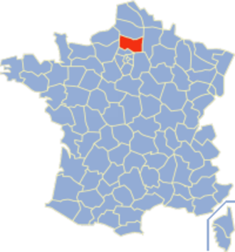 Communes of the Oise department - Image: Oise Position