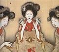 Okamoto Shinsō - Studie dreier Maiko, die Ken spielen.jpg