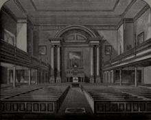 Binnenland van de Oude St. Joseph Kerk in Philadelphia