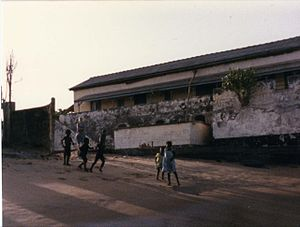 Fort Prinzenstein - The main building before the major erosion started in mid 1980s.