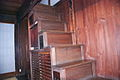 Old wooden house's steep staircase in Seki-Juku JPN.jpg