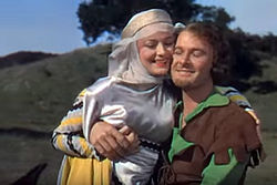 Olivia de Havilland and Errol Flynn in The Adventures of Robin Hood trailer.JPG