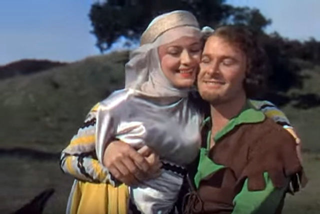 File Olivia De Havilland And Errol Flynn In The Adventures Of Robin Hood Trailer Jpg Wikimedia Commons