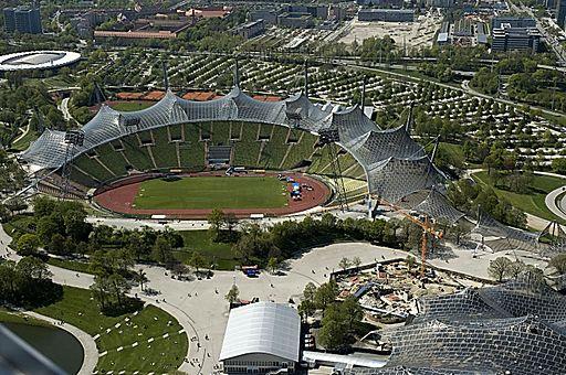 Olympiastadion München von oben