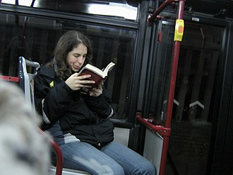 Books in Italy - Image: On Bus Reading