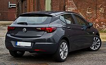 Opel Astra 1.4 EDIT Edition (K) – Heckansicht (1), 31. Juli 2016, Düsseldorf.jpg