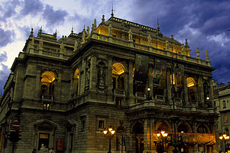 Hungarian State Opera House - Hungarian State Opera House at evening