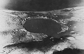Operation Hardtack I - Operation Hardtack I Cactus shot Crater on Runit Island