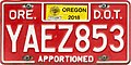 Oregon 2018 Apportioned Truck license plate - DOT.jpg