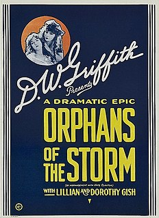 <i>Orphans of the Storm</i> 1921 film directed by D. W. Griffith
