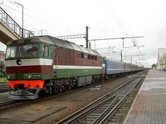 Rail transport in Belarus - A diesel locomotive at Orsha