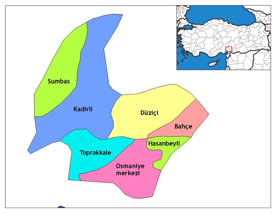 Osmaniye districts