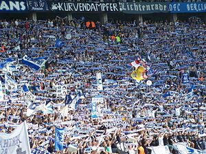 Hertha BSC - The Ostkurve at the Olympiastadion.