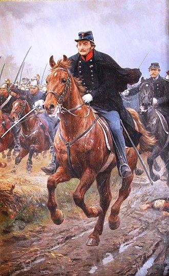 Battle of Isted - General Frederik Adolf Schleppegrell ved Isted 25 juli 1850 by Otto Bache (1896)
