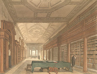 Christ Church's library in the early 19th century Oxford Library of Christ Church.jpg