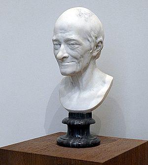 Marble bust of François-Marie Arouet dit Volta...