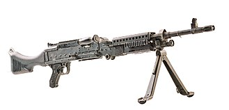 M240 machine gun - A right-side view of the M240B