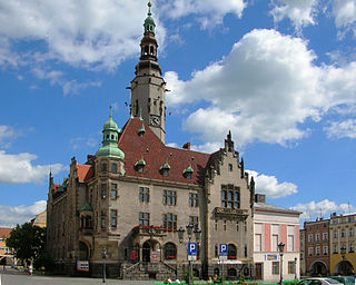 Jawor Place in Lower Silesian, Poland