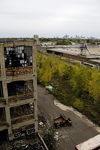 "Packard Automotive Plant - The infamous ""Packard Dump Truck"" October 13, 2009"