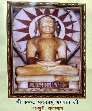 Padmaprabha - Image depicting Tirthankara Padmaprabha at Padampura