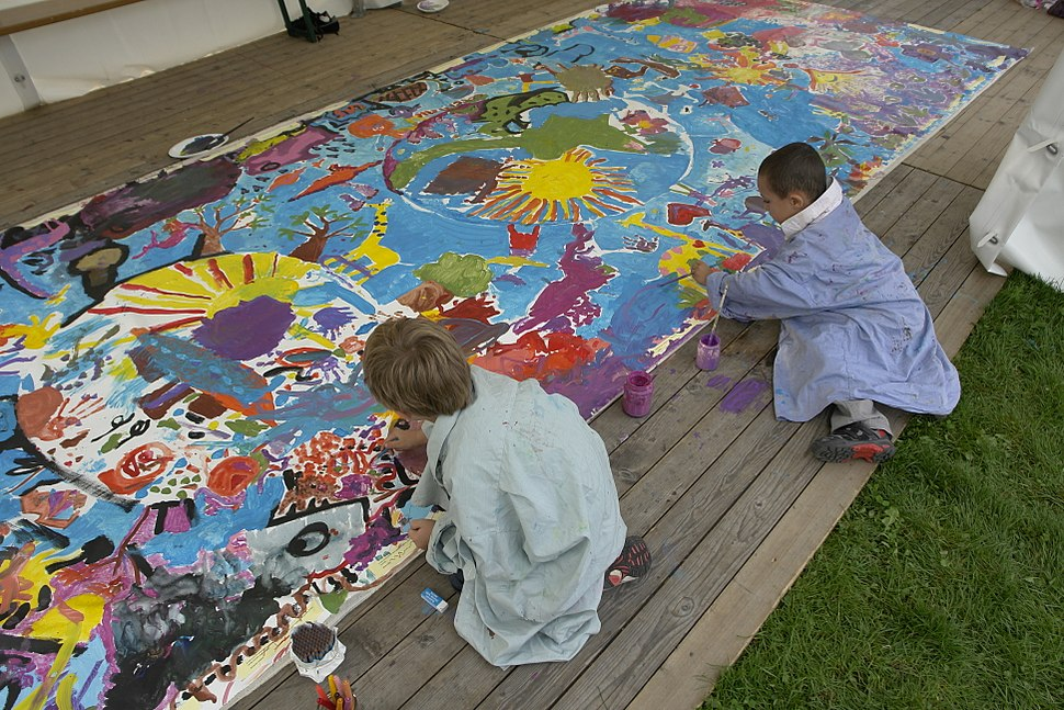 Painting by children