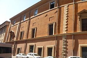 Palazzo Serristori, Rome - The front of the palace looking towards Borgo Santo Spirito