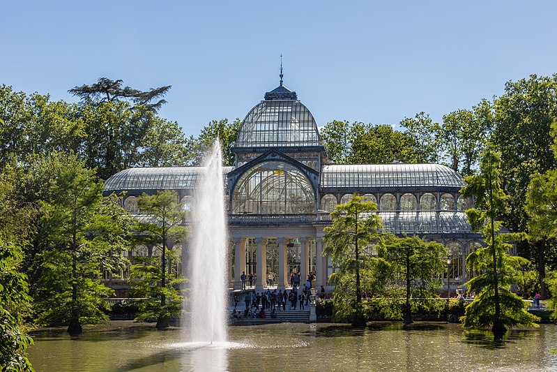 File palacio de cristal parque del retiro madrid espa a for Parques de madrid espana