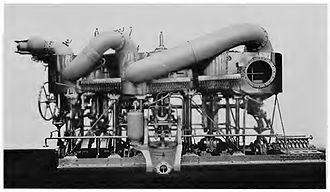 Palmers Shipbuilding and Iron Company - A triple expansion steam engine built in Palmers' engine works, as used in their torpedo boat destroyers