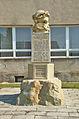Památník obětem první světové války - čelní pohled, Třebčín, Lutín, okres Olomouc.jpg