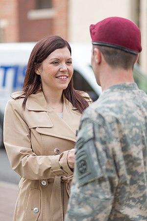 Pamela Sossi, Esq. with SPC Michael Norris, of the 82nd Airborne Division.jpg