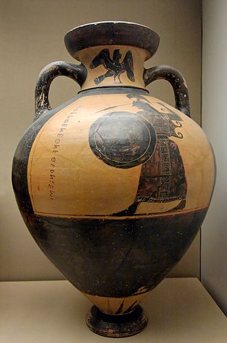 Panathenaic amphora - The Burgon amphora ca. 565 BCE, BM, London