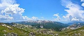 Panoramic view of Shebenik-Jabllanicë National Park from Black Stone Peak.jpg